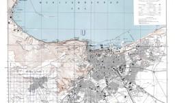 Un ancien plan d'Oran datant de 1942 (Etats-Unis)